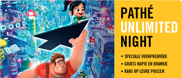 Pathé Unlimited Night met Ralph Breaks the Internet